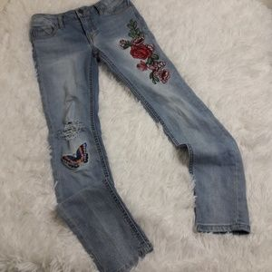 Vigoss Austin Ankle Skinny Jeans Sz 10 Patches